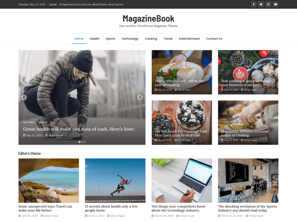 WordPress Magazine Theme - MagazineBook